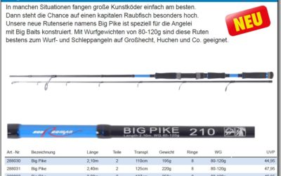 """BIG PIKE"" Rute – Neu!!"